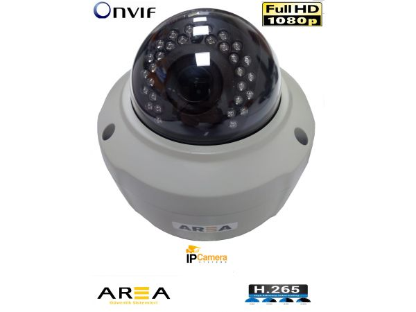 DUBLE DOME  Motorize AUTO Lens IP 2MP 1080 HD Kamera 2.8mm  12mm LENS H264 H265